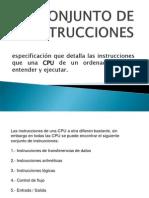 CONJUNTO DE INSTRUCCIONES