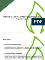 Hoja de trámites para el montaje de Estaciones de Servicio de GNV en Colombia. Javier Fernandez