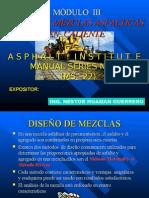 MODULO III DISEÑO DE MEZCLAS ASFÁLTICAS