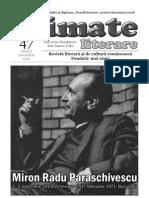 "Revista ""Climate Literare"", nr.47, anul 2011."
