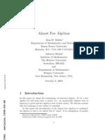 Alan H. Mekler and Saharon Shelah- Almost Free Algebras