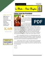 Kappa Alpha Theta, Iota Newsletter - Dec 2011