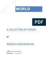 ONE WORLD Poems by Dr Romesh Senewiratne-Alagaratnam Arya Chakravarti