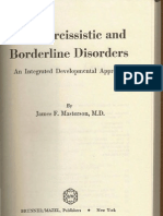 Narcissistic Borderline Disorders Reduced