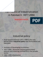 The Process of Industrialization in Pakistan II- 1977-2004