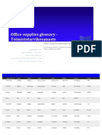 Office Supplies Glossary in 8 Languages