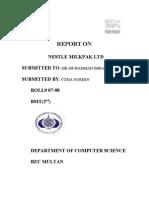 Report on Nestle Milkpak Ltd