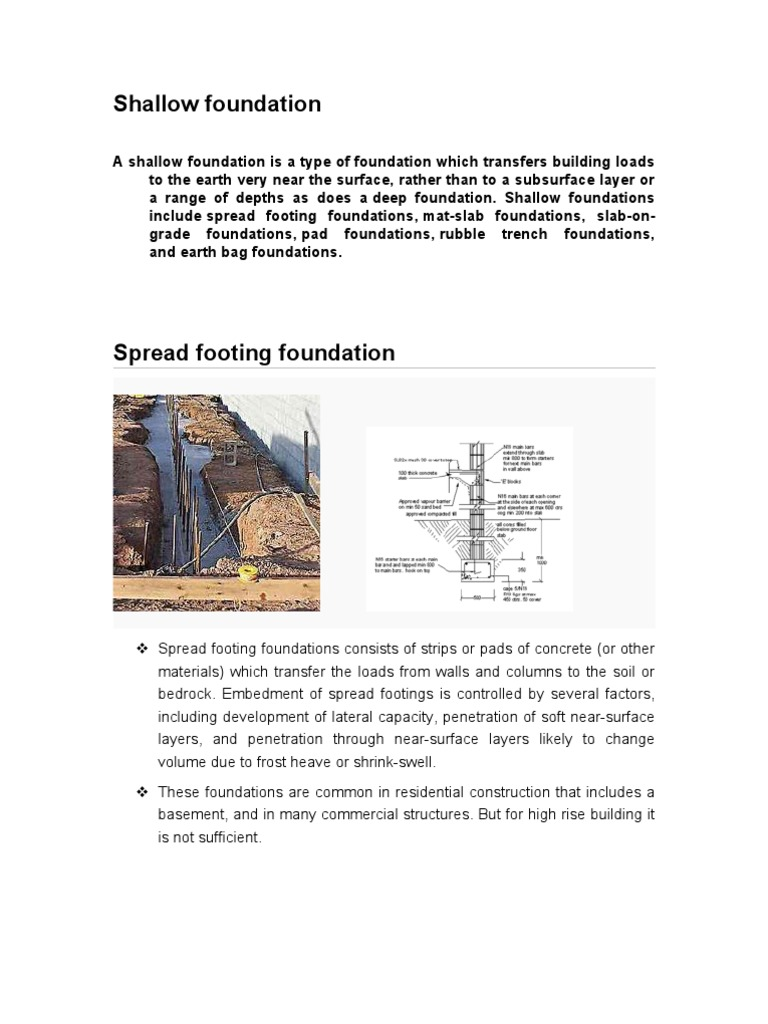 Shallow Foundation | Foundation (Engineering) | Infrastructure
