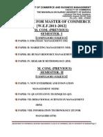 Post Graduate Programmes M Com