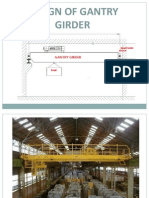 Design of Gantry Girder