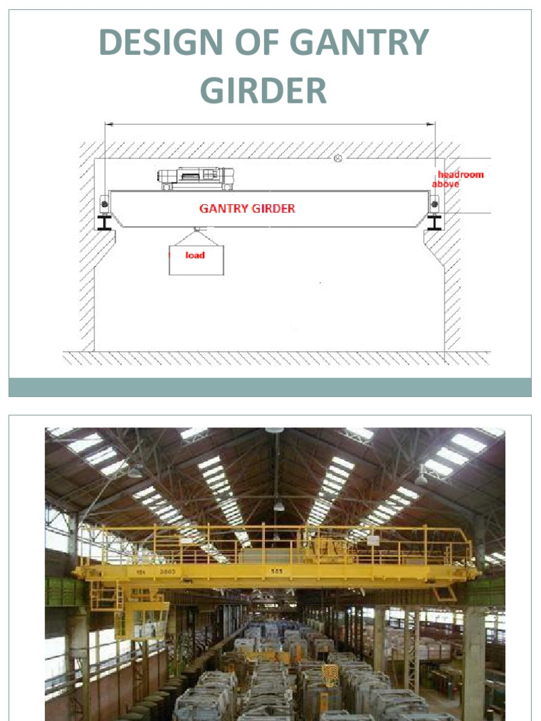 Overhead Crane Girder Deflection : Design of gantry girder bending crane machine