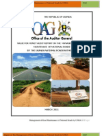 1305702074 Management of Road Main Ten Ace of National Roads by the Uganda National Roads Authority
