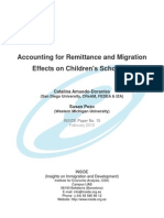 (Amuedo-Dorantes y Pozo, 2010) Accounting for Remittance and Migration Effects on Children's Schooling