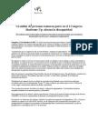 Nota de prensa Balance I Congreso Síndrome Up (21/12/12)