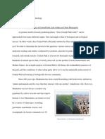 Seminar Essay on Biodiversity in Central Park