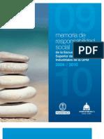 Memoria RS Escuela Industriales UPM