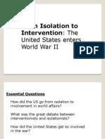 Gr 9 US Entering WWII
