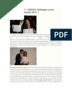UNIACC distingue a sus alumnos revelación 2011 - Mirko Osorio