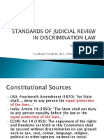 Standards of Judicial Review in Discrimination Law (1)