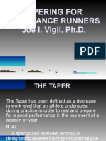 Dr Joe Vigil Tapering
