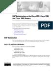 DSP Optimization on the Cisco 2801