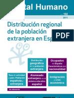 Distribución regional de la población extranjera en España