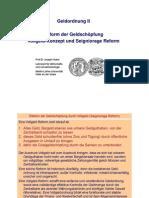 Geldordnung II Reform Der Geldschoepfung Durch Vollgeld Mai 09