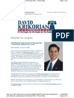 Krikorian Campaign Email