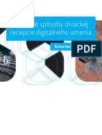 Katarína Rusnáková - Rozšírené spôsoby diváckej recepcie digitálneho umenia (2011, ukážka)