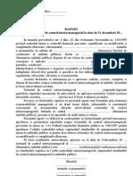 Raport Asupra Sistemului de Control Intern Managerial