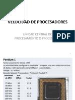 Procesadores velocidades