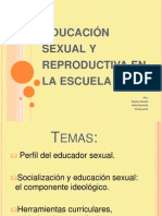 Educación sexual y reproductiva en la escuela!
