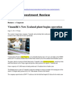 1st Milk Powder Plant in New Zealand for Vinamilk