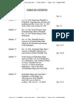LIBERI v BELCHER, et al. (N.D. TX) - 201.1 - Exhibits Table of Contents - gov.uscourts.txnd.205641.201.1