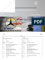 Important Order Numbers to Literature and Reference Works for Mercedes-benz Classic Cars