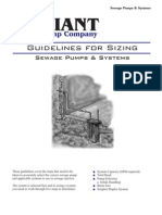 Sewage Pumps-Guidelines for Sizing