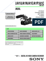 Sony HVR A1service Manual