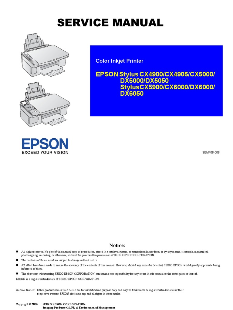 Epson stylus dx6050 all-in-one inkjet printer power supply.