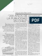 200 años de la publicidad en chile
