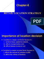 Chapter 6 Retail Location Strategy-Retail Management