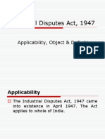 1. IDA, 1947 Object, Applicability & Definitions