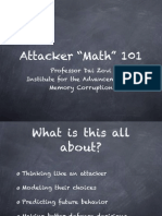 Attacker Math