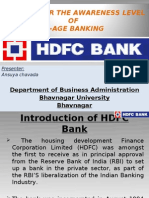 A Study for the Awareness Levelof E-Age Banking