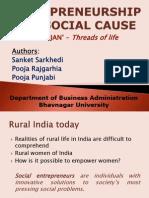 Entrepreneurship for Social Cause