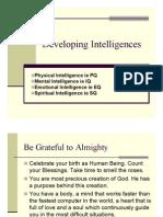 Developing Intelligence