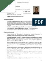 Currículum Vítae Jose Martínez Salmerón - Diciembre 2011