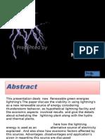 Lightning Energy Utilization