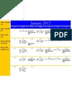 January Practice Schedule