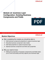 Business Layer Configuration Existing Business Components and Fields 29