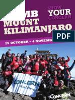 Climb Mount Kilimanjaro Challenge 2012